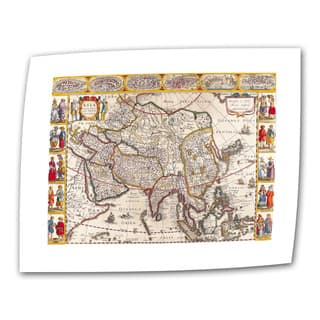 Guillaume Danet 'Map of Asia' Unwrapped Canvas - Multi