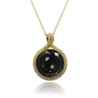 De Buman 14k Goldplated Crystal Necklace