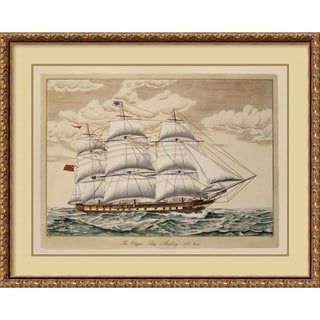 The Clipper Ship, Anglesey, 1150 Tons' Framed Art Print (33 x 26-inch)
