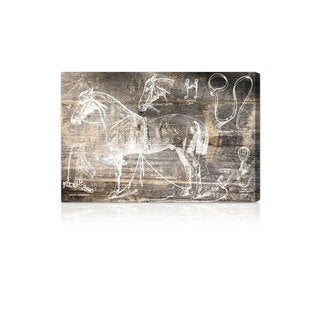 Oliver Gal 'Horse Breaking Guide' Canvas Wall Art