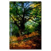 Claude Monet 'Bodmer Oak, Fontainebleau Forest' Canvas Art