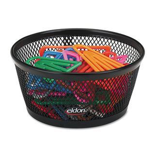 Rolodex Black Wire Mesh Jumbo Paper Clip Dish