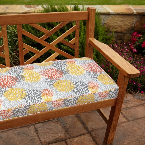 Tango Bloom 60 Inch Outdoor Bench Cushion Free Shipping