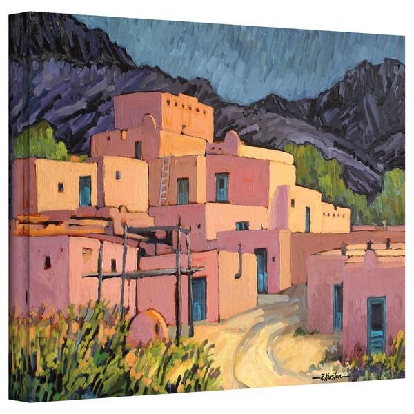 Rick Kersten 'Taos Pueblo' Gallery Wrapped Canvas