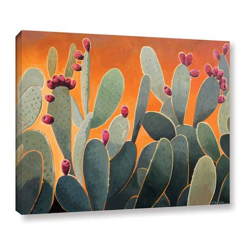 The Curated Nomad Hermosa Rick Kersten 'Cactus Orange' Gallery Wrapped Canvas
