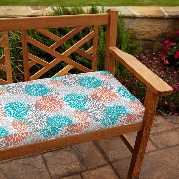 Tropic Bloom 48-inch Outdoor Bench Cushion
