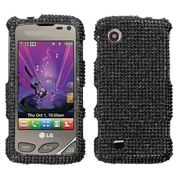 MYBAT Black Diamante Case Diamante 2.0 for LG VX8575 Chocolate Touch