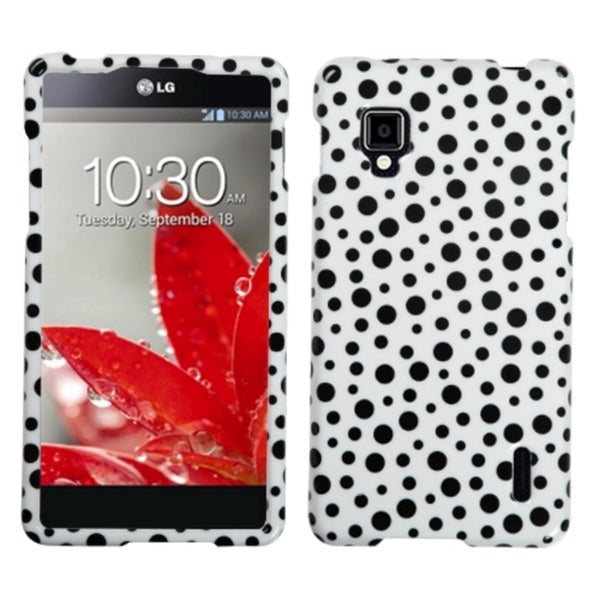 MYBAT Black Mixed Polka Dots Phone Case Cover for LG LS970 Optimus G