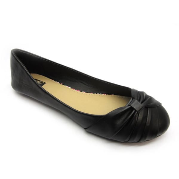 Blue Womens 'Dope' Black Wrapped Flats