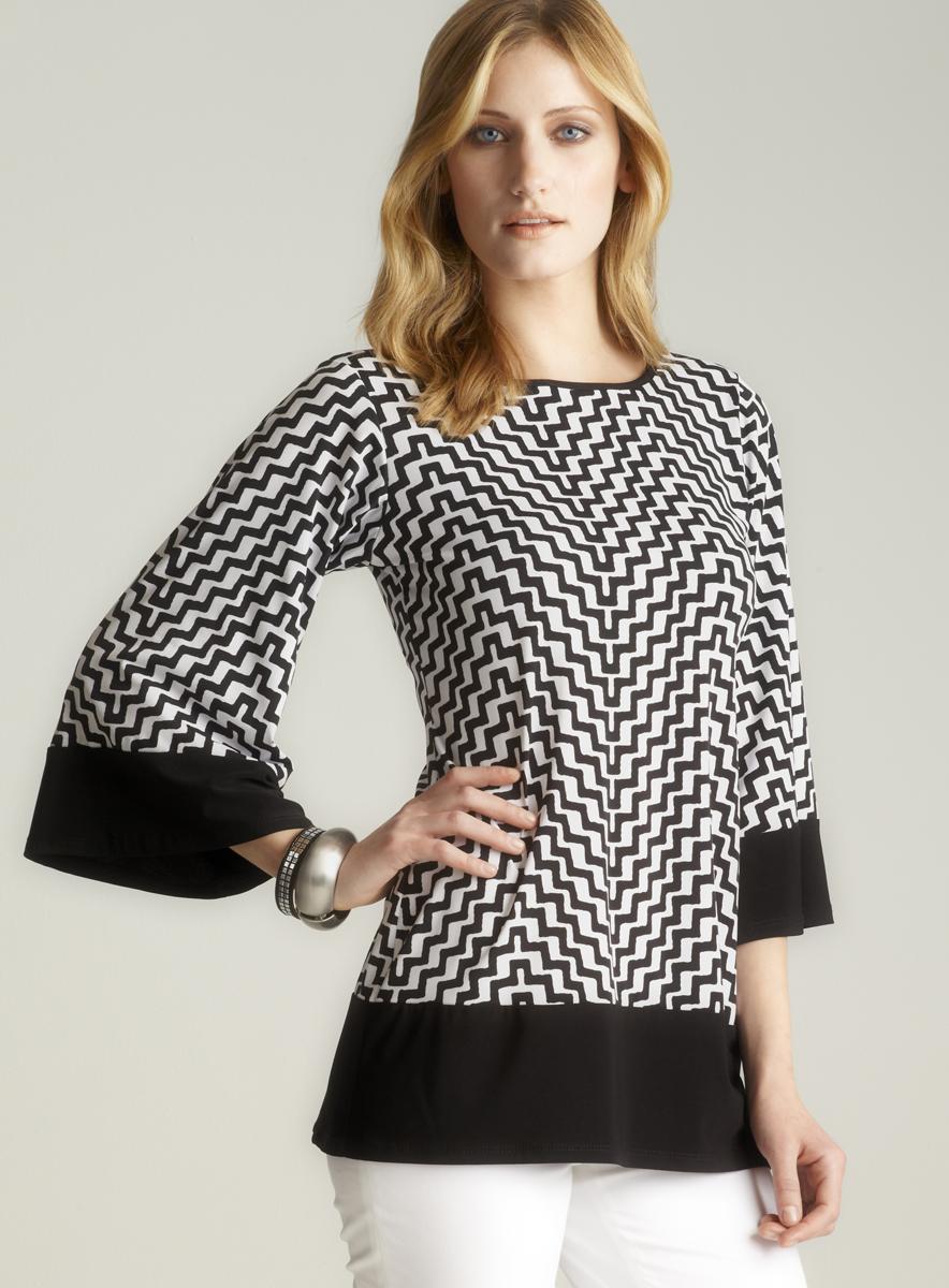MSK Contrast Trim Printed Dress