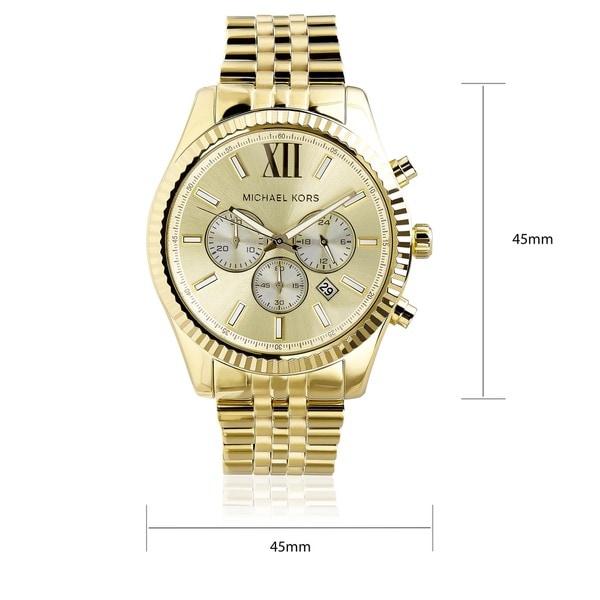 Shop Michael Kors Men's MK8281 Gold Tone Fluted Bezel