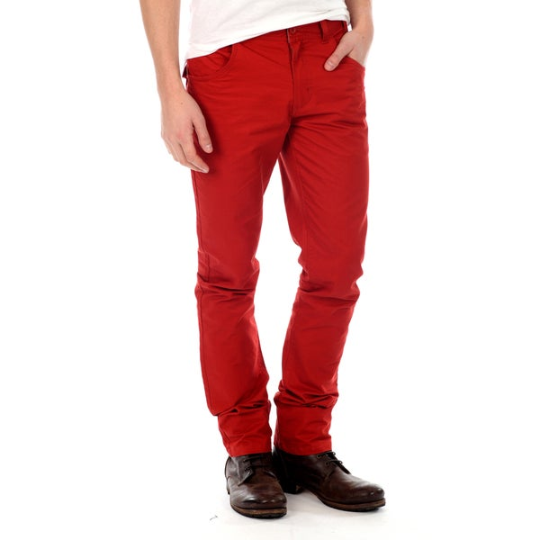 191 Unlimited Men's Red Straight Leg Pants