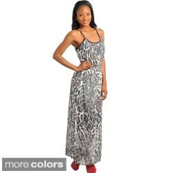 Stanzino Women's Animal Print Maxi Dress