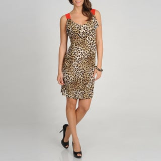 Tiana B. Women's Leopard Print Sleeveless Dress