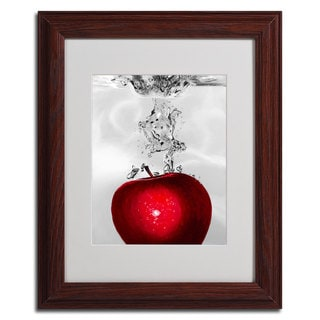 Roderick Stevens 'Red Apple Splash' Framed Matted Art