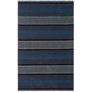 Martha Stewart Harmony Stripe Wrought Iron Wool Rug (8' x 10')