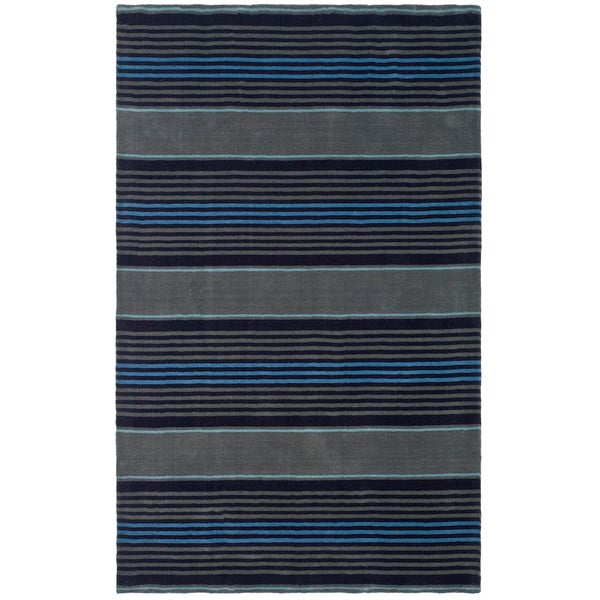 Martha Stewart by Safavieh Harmony Stripe Wrought Iron Wool Rug - 8' x 10'