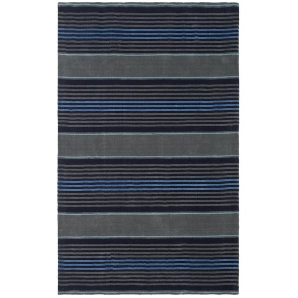 Martha Stewart by Safavieh Harmony Stripe Wrought Iron Wool Rug - 9' x 12'