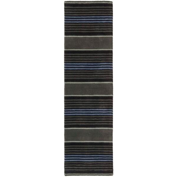 Martha Stewart by Safavieh Harmony Stripe Wrought Iron Wool Rug - 2'3 x 8'