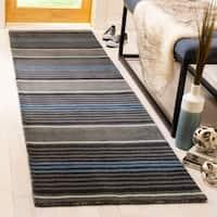 "Martha Stewart by Safavieh Harmony Stripe Wrought Iron Wool Rug - 2'3"" x 8'"