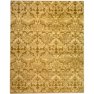 Martha Stewart Damask Pedestal Wool/ Linen Rug (8' x 10')