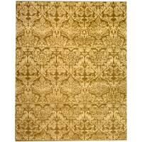 Martha Stewart by Safavieh Damask Pedestal Wool / Linen Rug - 9' x 12'