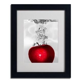 Roderick Stevens 'Red Apple Splash' Framed Matted Giclee Art
