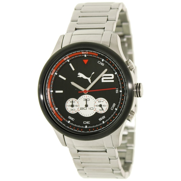 5ecd4159eb54 Shop Puma Men s  Motor  Black Dial Chronograph Watch - Free Shipping Today  - Overstock - 7883779