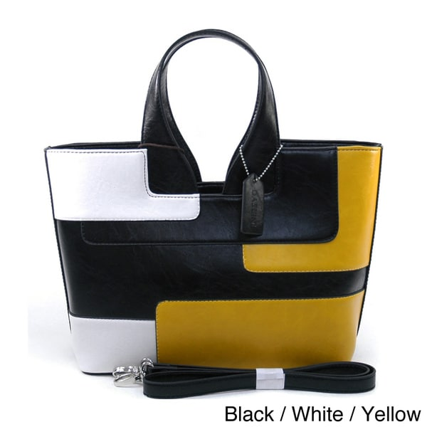 Dasein Retro Colorblock Satchel Bag
