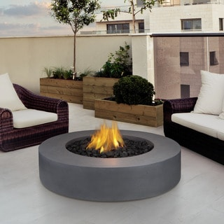 Real Flame Mezzo Round Flint Grey Fire Table