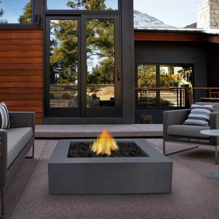 Real Flame Mezzo Square Flint Grey Fire Table