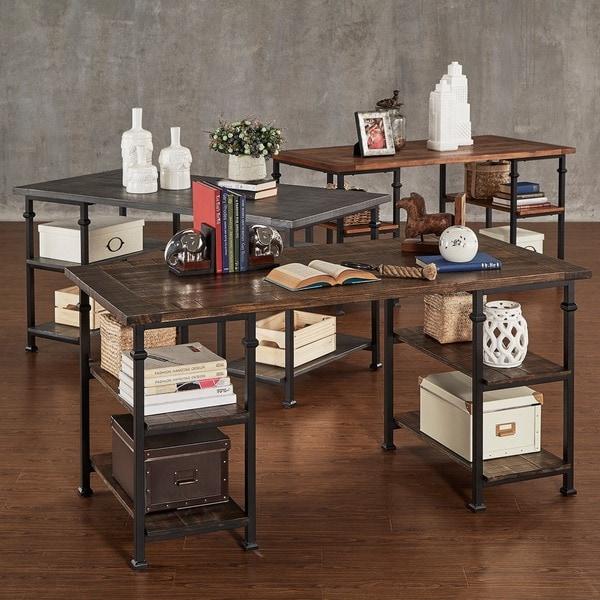 Myra Vintage Industrial Modern Rustic Storage Desk by iNSPIRE Q Classic