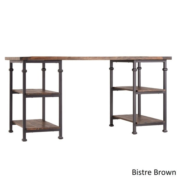 Myra Vintage Industrial Storage Desk - Free Shipping Today - Overstock.com  - 15266392