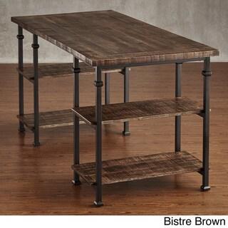 TRIBECCA HOME Myra Vintage Industrial Modern Rustic Storage Desk