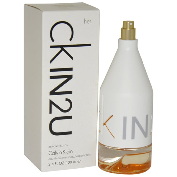 Shop Calvin Klein Ck In2u Womens 34 Ounce Eau De Toilette Spray