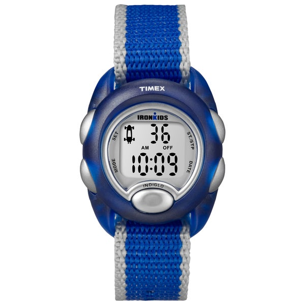 Timex Kids' T7B982 IronKids Translucent Blue Resin Strap Watch