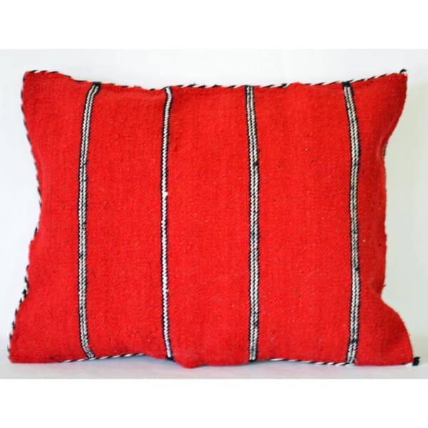 Moroccan pillow handwoven pillow case by Berber women. kilim pillow cover