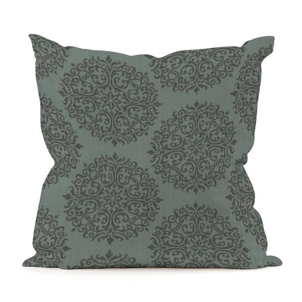 20-Inch x 20-Inch Medallion Teal Pillow