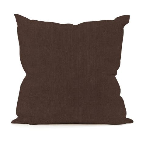 Sterling Chocolate 20-inch Square Pillow