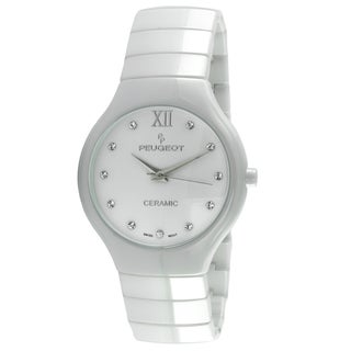 Peugeot Women's Swiss Quartz White Ceramic Watch