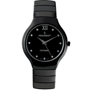 Peugeot Women's Swiss Quartz Black Ceramic Watch