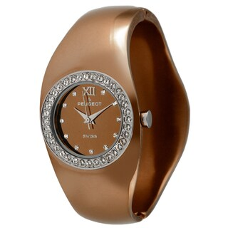 Peugeot Women's Swiss Quartz Brown Bangle Watch