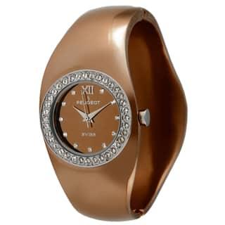 Peugeot Women's Swiss Quartz Brown Bangle Watch https://ak1.ostkcdn.com/images/products/7884109/7884109/Peugeot-Womens-Swiss-Quartz-Brown-Bangle-Watch-P15266623.jpg?impolicy=medium