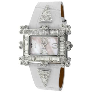 Peugeot Women's 'Couture' Crystal-accented White Leather Strap Watch|https://ak1.ostkcdn.com/images/products/7884110/7884110/Peugeot-Womens-Couture-Crystal-accented-White-Leather-Strap-Watch-P15266624.jpg?impolicy=medium