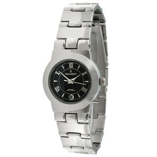 Peugeot Women's Stainless Steel Black Dial Watch