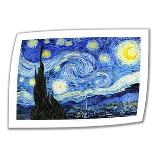 Vincent van Gogh 'Starry Night' Unwrapped Canvas - Multi