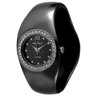 Peugeot Women's Swiss Quartz Black Bangle Watch