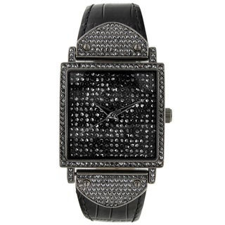 Peugeot Women's 'Couture' Gun Metal Crystal-accented Watch