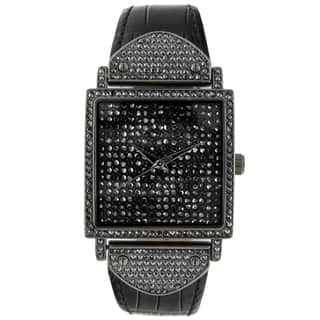 Peugeot Women's 'Couture' Gun Metal Crystal-accented Watch|https://ak1.ostkcdn.com/images/products/7884122/7884122/Peugeot-Womens-Couture-Gun-Metal-Crystal-accented-Watch-P15266634.jpg?impolicy=medium