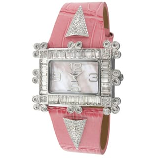Peugeot Women's 'Couture' Crystal-accented Pink Leather Strap Watch|https://ak1.ostkcdn.com/images/products/7884123/7884123/Peugeot-Womens-Couture-Crystal-accented-Pink-Leather-Strap-Watch-P15266635.jpg?impolicy=medium